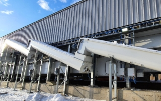 PRODESA belt dryer for Tolko Pinnacle Pellet Plant