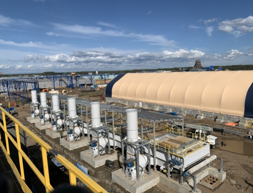 PRODESA, completing assembly of Pinnacle Tolko belt dryer