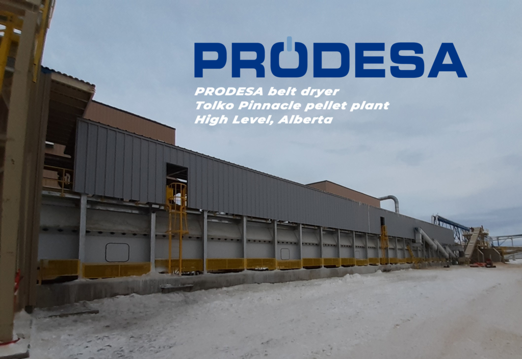 PRODESA belt dryer for Tolko Pinnacle Pellet Plant