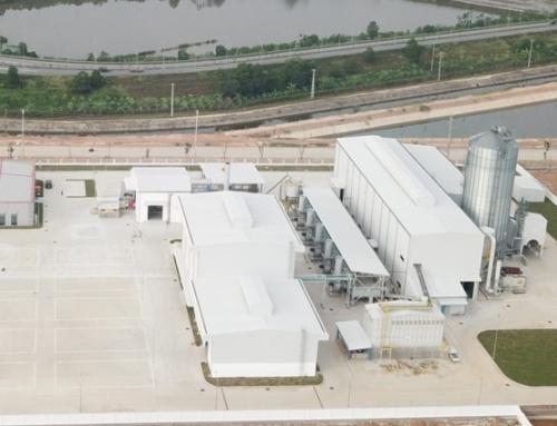 Los primeros pellets de la planta de Uju Vina, en Vietnam