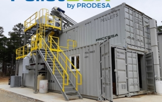 PelletBOX - containerized pellet plant by PRODESA