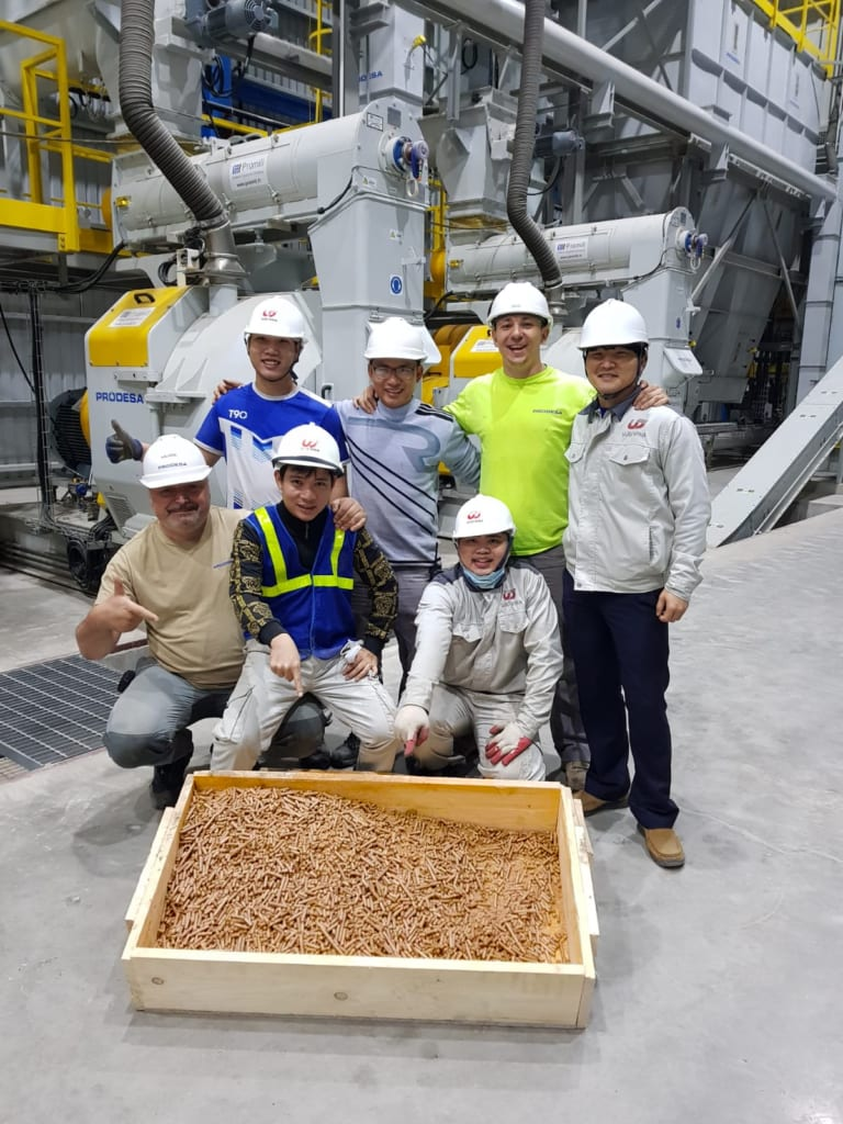 Prodesa first pellets from wood pellet plant Vietnam