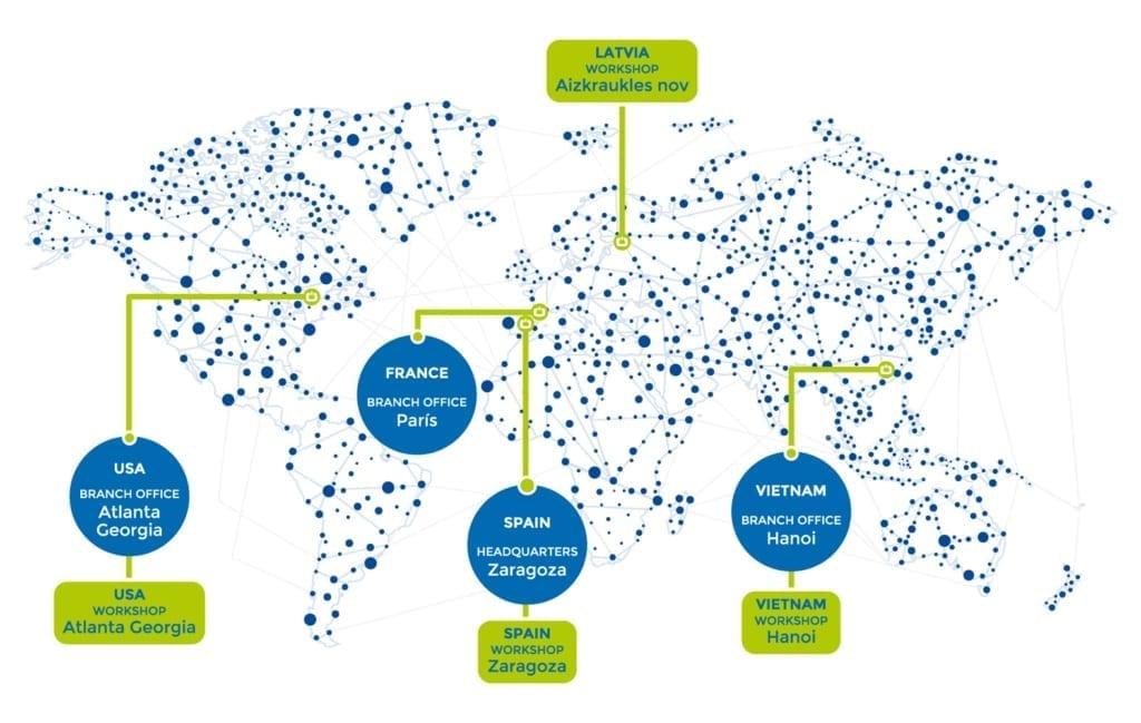 Prodesa delegations map