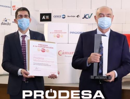 PRODESA recibe el premio extraordinario por su trayectoria internacional